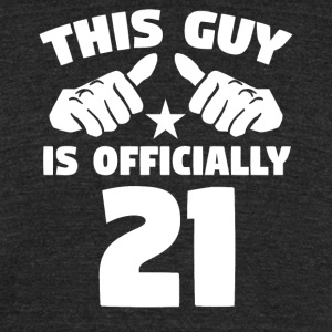 This Guy Is Officially 21 Years Old 21st Birthday - Unisex Tri-Blend T-Shirt by American Apparel