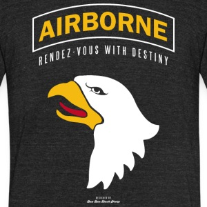 Airborne - Unisex Tri-Blend T-Shirt by American Apparel