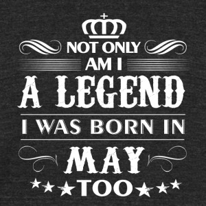 May month Legends tshirts - Unisex Tri-Blend T-Shirt by American Apparel