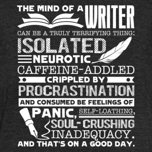 THE MIND OF A WRITER SHIRT - Unisex Tri-Blend T-Shirt by American Apparel