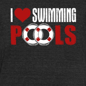 I Love Swimming Pools Shirts - Unisex Tri-Blend T-Shirt by American Apparel