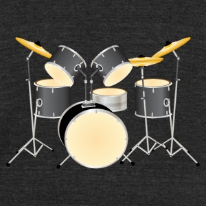 Drum Kit - Unisex Tri-Blend T-Shirt by American Apparel