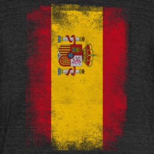 Spain Flag Proud Spanish Vintage Distressed Shirt - Unisex Tri-Blend T-Shirt by American Apparel