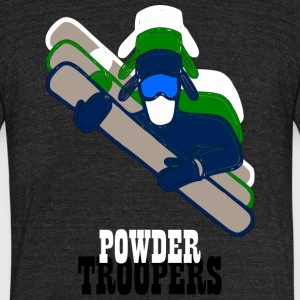 Powdertroopers - Unisex Tri-Blend T-Shirt by American Apparel