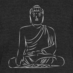 buddha traditional statue japanese - Unisex Tri-Blend T-Shirt by American Apparel