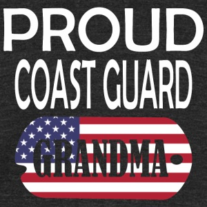 Proud Coast Guard Grandma - Unisex Tri-Blend T-Shirt by American Apparel