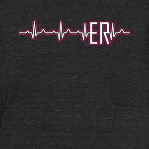 ER Nurse Heartbeat Shirt - Unisex Tri-Blend T-Shirt by American Apparel