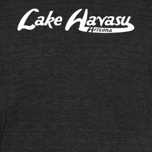 Lake Havasu Arizona Vintage Logo - Unisex Tri-Blend T-Shirt by American Apparel