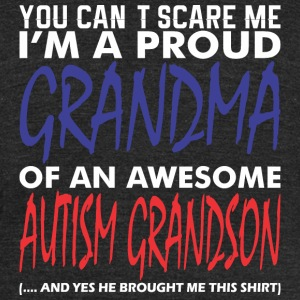 Im A Proud Grandma Of An Awesome Autism Grandson - Unisex Tri-Blend T-Shirt by American Apparel