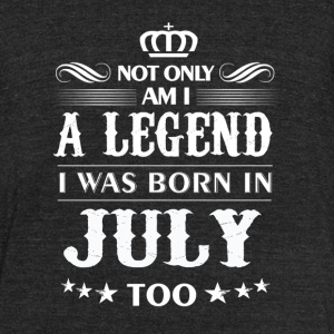 July month Legends tshirts - Unisex Tri-Blend T-Shirt by American Apparel