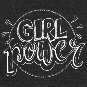 Girl Power | Woman Power - Unisex Tri-Blend T-Shirt by American Apparel