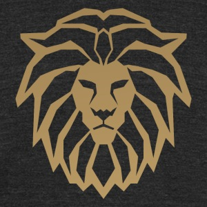 lion head gold - Unisex Tri-Blend T-Shirt by American Apparel