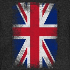 United Kingdom Flag Proud British Vintage Distress - Unisex Tri-Blend T-Shirt by American Apparel