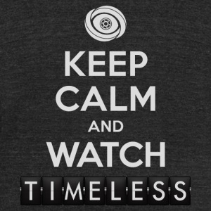 Timeless - Keep Calm And Watch Timeless - Unisex Tri-Blend T-Shirt by American Apparel