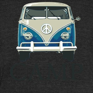 Camp Peace Van - Unisex Tri-Blend T-Shirt by American Apparel