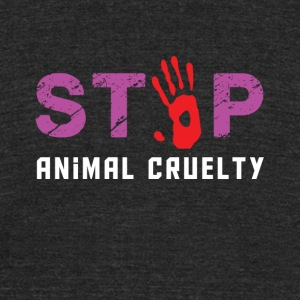 Stop animal cruelty - Unisex Tri-Blend T-Shirt by American Apparel