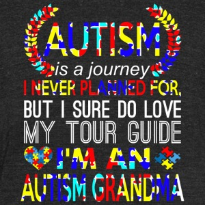 Autism Journey Never Planned Im An Autism Grandma - Unisex Tri-Blend T-Shirt by American Apparel
