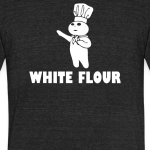 White Flour Funny - Unisex Tri-Blend T-Shirt by American Apparel