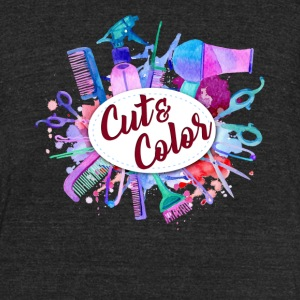 CUT COLOR TEE SHIRT - Unisex Tri-Blend T-Shirt by American Apparel