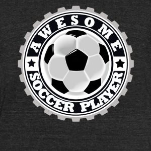 Symbol of an Awesome Soccer Player - Unisex Tri-Blend T-Shirt by American Apparel