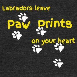 LABRADORS LEAVE PAW PRINTS ON YOUR HEART SHIRT - Unisex Tri-Blend T-Shirt by American Apparel