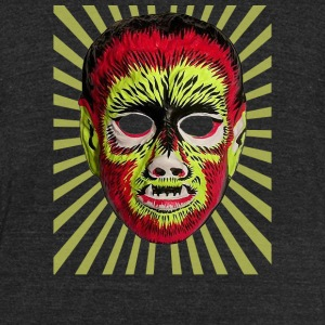 Wolfman Mask - Unisex Tri-Blend T-Shirt by American Apparel