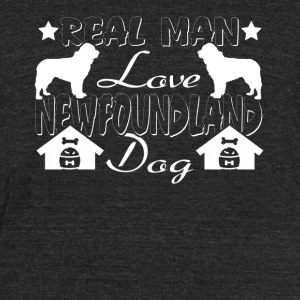 REAL MAN LOVE NEWFOUNDLAND DOG SHIRT - Unisex Tri-Blend T-Shirt by American Apparel