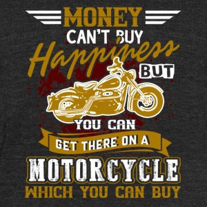 HAPPINESS MOTORCYCLE SHIRT - Unisex Tri-Blend T-Shirt by American Apparel