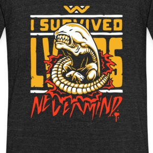 I Survived - Unisex Tri-Blend T-Shirt by American Apparel