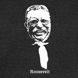 President Theodore Roosevelt American Patriot Vint - Unisex Tri-Blend T-Shirt by American Apparel