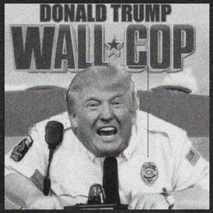 DONALD TRUMP WALL COP - Unisex Tri-Blend T-Shirt by American Apparel