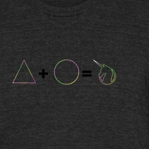 Circle and Unicorns - Unisex Tri-Blend T-Shirt by American Apparel