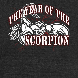 YEAR OF THE SCORPION SHIRT - Unisex Tri-Blend T-Shirt by American Apparel