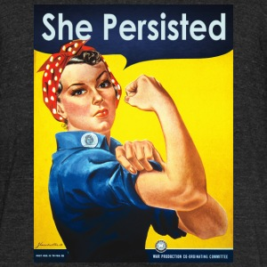 SHE PERSISTED - Unisex Tri-Blend T-Shirt by American Apparel