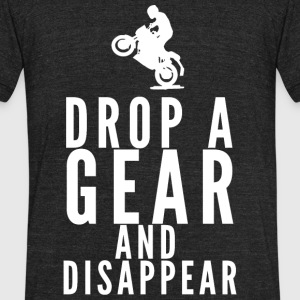 Motorbike - Drop A Gear And Disappear - Unisex Tri-Blend T-Shirt by American Apparel