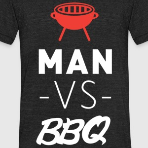 BBQ - MAN VS BBQ - Unisex Tri-Blend T-Shirt by American Apparel