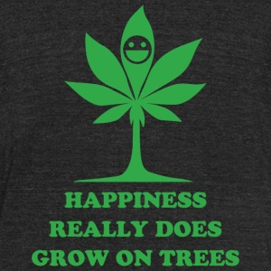 Cannabis - happiness really does grow on trees - Unisex Tri-Blend T-Shirt by American Apparel