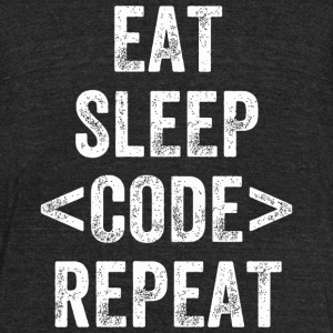 Code - eat sleep code developer - Unisex Tri-Blend T-Shirt by American Apparel