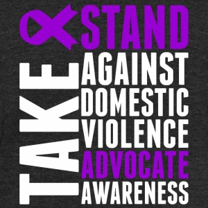 Awareness - Take Stand Against Domestic Violence - Unisex Tri-Blend T-Shirt by American Apparel