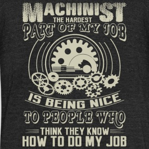 Machinist - Machinist T Shirt - Unisex Tri-Blend T-Shirt by American Apparel
