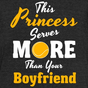 Tennis - This princess scores more than your boy - Unisex Tri-Blend T-Shirt by American Apparel