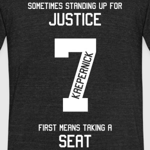 Taking a Seat for Justice - Taking a Seat for Ju - Unisex Tri-Blend T-Shirt by American Apparel