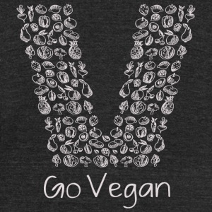 Vegan - Go Vegan For Healthy Lifestyle Best Gift - Unisex Tri-Blend T-Shirt by American Apparel