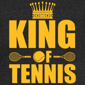 Tennis - King of Tennis - Unisex Tri-Blend T-Shirt by American Apparel