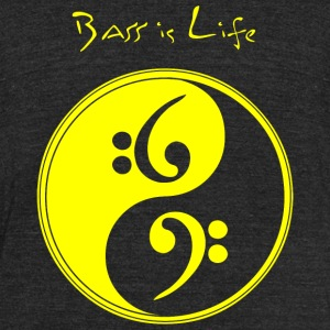 Bass - Bass is Life - Unisex Tri-Blend T-Shirt by American Apparel