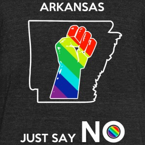 Arkansas - Arkansas -- Just Say No - Unisex Tri-Blend T-Shirt by American Apparel