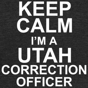 Correction officer - keep calm i'm a utah correc - Unisex Tri-Blend T-Shirt by American Apparel