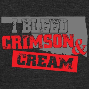 Crimson - i bleed crimson and cream - Unisex Tri-Blend T-Shirt by American Apparel