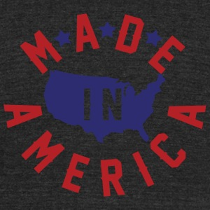 America - Made In America - Unisex Tri-Blend T-Shirt by American Apparel