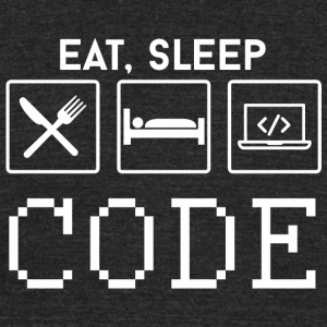 CODE - EAT, SLEEP CODE - Unisex Tri-Blend T-Shirt by American Apparel